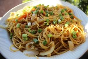 Homemade Lo Mein Noodles