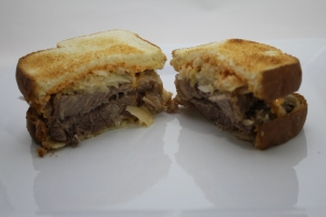 Slow cooker beef loin sandwiches