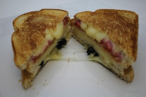 Strawberry & Blueberry Grilled Cheese Sandwiches