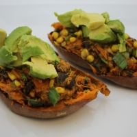Mexican Stuffed Sweet Potatoes and the Ridding of Tablets